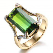 Fashion Plated 18K Gold Emerald Rings