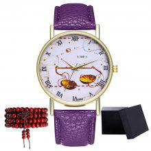 Kingo T326-1 Cute Pattern Neutral Quartz Watch | Galorebest