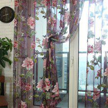 Large Peony Pattern Home Bedroom Living Room Balcony Window Screening