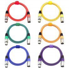 XLR Cannon Bull of Busbar DMX512 Signal Lighting Cables Balanced Line 6PCS