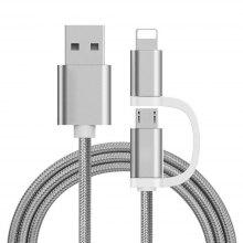 The Two-In-One Charging Durable and Fast Charging Cable For iPhone Android