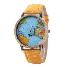 Gearbest price history to XR1105 Men Simple Vintage Jean Canvas with PU Band Map Watch