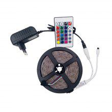 KWB RGB LED Strip Light 300leds RGB 60leds/m with 24key Ir Remote Controller