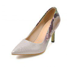 Snakeskin Pattern Banquet High-heeled Shoes