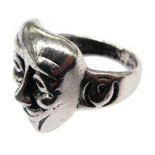 New Men Domineering Face Graphics Ring Personality Tide Male Jewelry