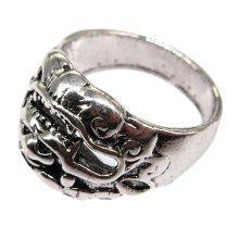 Creative Men Domineering Lion Titanium Steel Ring Personality Male Jewelry