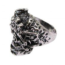 Creative Personality Head Pattern Titanium Steel Men Ring Jewelry
