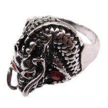 Creative Personality Leading Pattern Titanium Steel Men Ring Jewelry