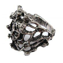Creative Punk Style Men Titanium Steel Ring Personality Tide Male Jewelry