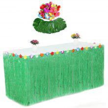Fashion Plastic Grass Table Decoration Skirt Turtle Leaves Flower Petals Set