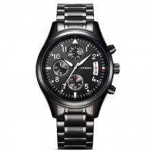 Gearbest Sinobi 9639 Casual Business Multifunctional Waterproof Calendar Quartz Men Watch
