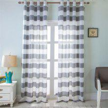1PCS Fresh and Simple Style Striped Curtain