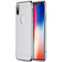 3 in 1 Slim Hard Stylish Case Matte Surface with Electroplate Frame for IPhone X