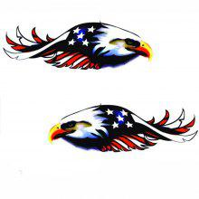New Personality Eagle Car Decoration Stickers 2PCS