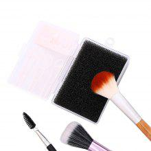 Make Up Brush Sets Clean Up Black Sponge Tools Beauty Cosmetic Fast Make Up Tool Clean Up Box
