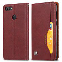 Premium Luxury Wallet Case Cover for Huawei Y9 2018 Flip Pu Leather