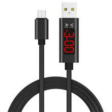1.2m Micro Usb Cable 3A Voltage And Current Display Nylon Braided