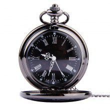 BALDR Pocket Watch Vintage Roman Numerals Quartz Watch
