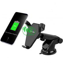 Auto Phone Grip Fast Wireless Charging Pad Stand for Apple / Samsung