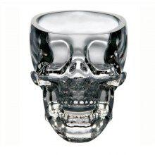 Clear Heavy Base Glass Skull Face Drinking Mugs Glass 75ml