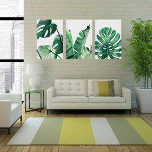 W186 Leaves Unframed Art Wall Canvas Prints For Home Decorations 3 PCS