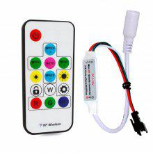 Mini RF Controller With 14 Keys Wireless Remote For WS2811/WS2812 LED Strip