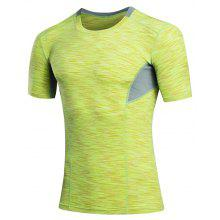 Quick Dry Tights Fitness Men Gym Sport Suit Running Short T-Shirt