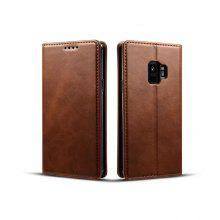 for Samsung Galaxy S9 Horizontal Flip Cowhide Texture Leather Wallet Case Cover