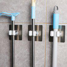 Self-adhesive Broom Mop Holder Home Space Saving Wall Suction Clip Hook 2PCS
