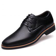 Muhuisen Summer Men Dress Formal Breathable Male Shoes Casual Business Shoes