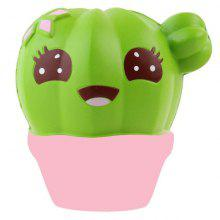 Jumbo Squishy Children Potted Cactus Kawaii Soft Toy Slow Rising Adults