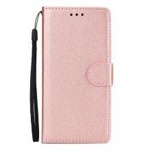 for Huawei P20 Lite Cover Horizontal Flip Leather Wallet Case with Lanyard