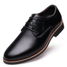 MUHUISEN Men Casual Lace-Up Business Dress Formal Shoes