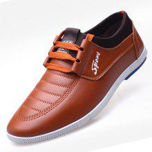 MUHUISEN Men Casual Soft Leather Lace Up Loafers Flats Male Driving Shoes