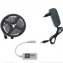 KWB LED Strip Light 5050 with Bluetooth Controller and 3A LED Adapter