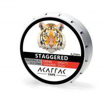 AKATTAK Kanthal A1 Staggered Clapton Prebuilt Heating Wire 20pcs