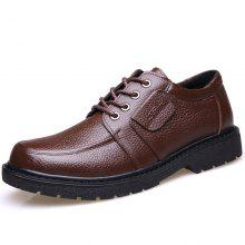 MUHUISEN Men Oxford Casual Leather Breathable Business Male Shoe