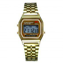 Fashion Casual Sport Digital Military Stainless Steel Square Wrist Watch