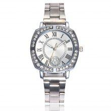 Stainless Steel Band Quartz Female Watch