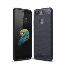Case for Lenovo S5 Shockproof Back Cover Solid Color Soft Carbon Fiber
