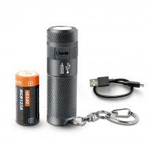 NICRON B10 CREE LED 200LM Mini USB Rechargeable Keychain Flashlight