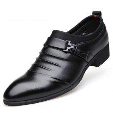 MUHUISEN Men Dress Business PU Leather Breathable Formal Wedding Shoes