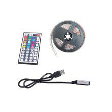 2M USB RGB LED Strip Light 5050 Waterproof TV Background Lamp with 44KEY Remote