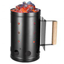 Charcoal Chimney Fire Starter For BBQ and Grill with Wooden