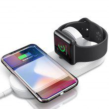 Minismile 2 in 1 Fast Qi Wireless Charger for Apple Watch 3/2/ iPhone X / 8 Plus