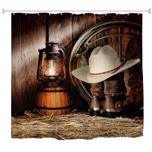 Cowboy Lanterns Water-Proof Polyester 3D Printing Bathroom Shower Curtain