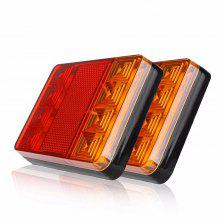 ZIQIAO 2PCS 8 LED Car Truck Warning Waterproof Rear Taillight DC 12V