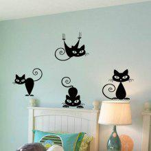 Cute Funny Cute Cat Wall Decal Sticker