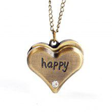 Seasonal 3152330 Heart Shaped Pocket Watch
