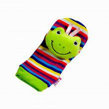 Creative Lovely Animal Pattern Striped Sock Design Rattles and Teether